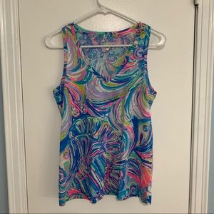 Lilly Pulitzer v-neck tank top, loose fit, size XS